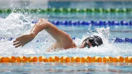 Elijah Winnington pictured during the Mens Open 400m Freestyle.
