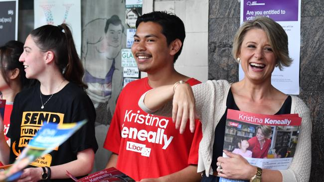 Ms Keneally campaigns on Friday — also at Epping train station.