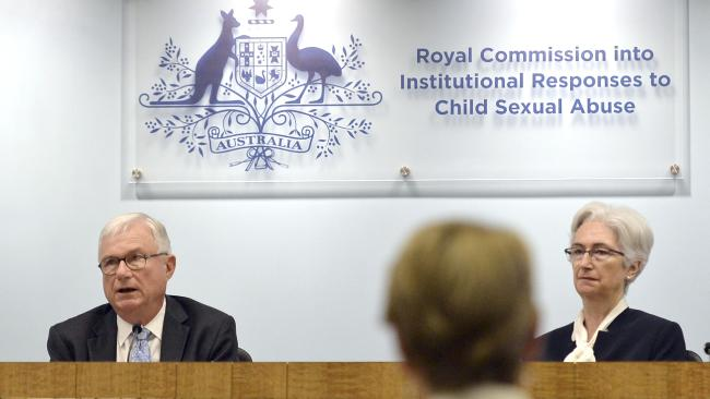 Commissioners Justice Peter McClellan and Justice Jennifer Coates at the final sitting of the Royal Commission into Institutional Responses to Child Sexual Abuse. Picture: Jeremy Piper.