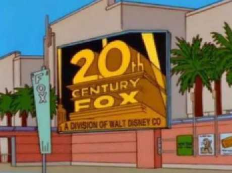 The Simpsons predicts 20th Century Fox and Disney Deal.
