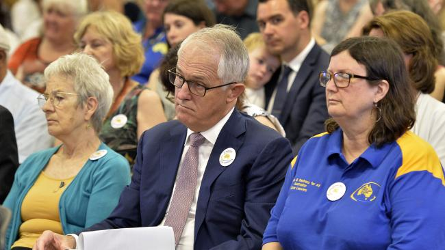 Prime Minister Malcolm Turnbull at the final sitting of the Royal Commission into Institutional Responses to Child Sexual Abuse on Thursday. Picture: AAP Image, supplied.
