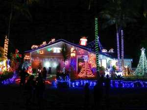 Christmas lights in Noosa