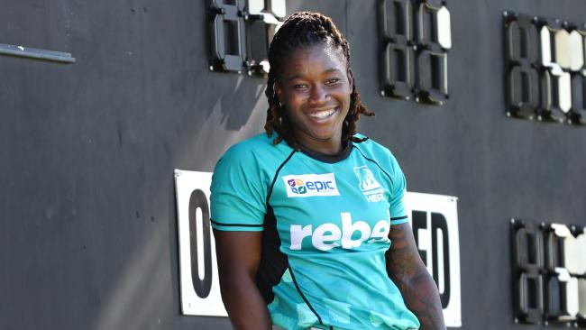 Brisbane Heat West Indies star Deandra Dottin. Picture: Annette Dew