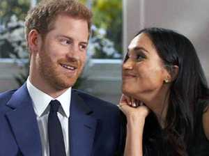Meghan Markle and Prince Harry during the video of their engagement announcement and interview. Picture: Supplied