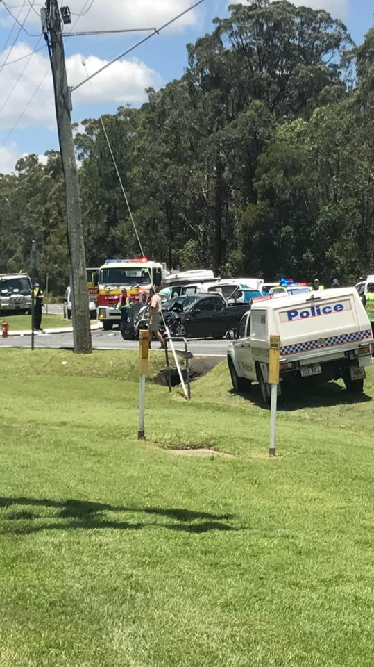 EMERGENCY service crews are on their way to a two-vehicle crash at Beerwah.