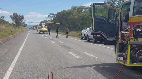 A fatal traffic crash on the Bruce Hwy south of Mackay.