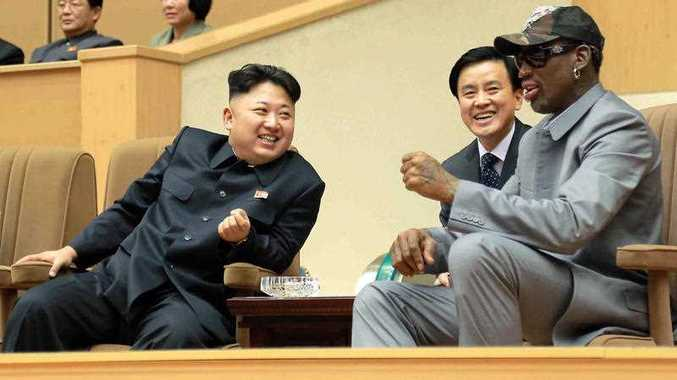 North Korea is expecting another visit by former NBA bad boy Rodman on Tuesday, June 13, 2017, in what would be his first to the country since President Donald Trump took office. Independent journalists were not given access to cover the event depicted in this photo.