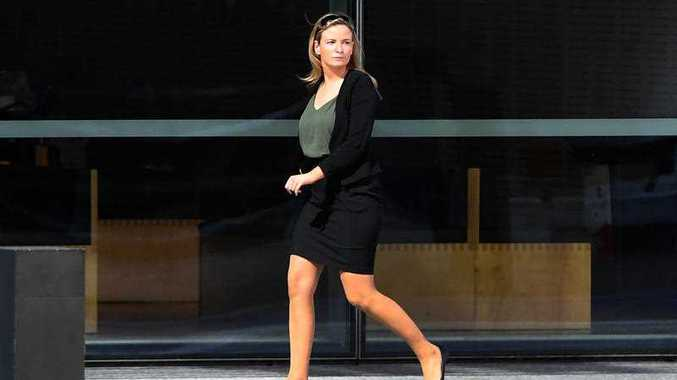Hannah Page is seen outside the Supreme Court in Brisbane, Friday, December 15, 2017. Ms Page was sentenced today for drug trafficking offences.