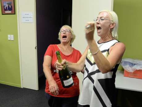 LABOR RESULT: Leanne Donaldson celebrates. Photo: Mike Knott / NewsMail