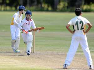 QUICK RUN: Central Queensland's Jack Shepherd sneaks through for a quick single in the play-off game against South-East Queensland at Kalka Shades on the final day of the Queensland under-12 championships.