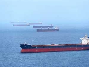 Bulk carrier queues on the decline outside Hay Point