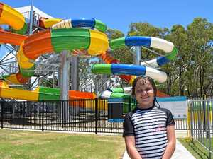 SLIDE CRITIC: Matilda Brown, 7, shared her insights on the different water slide experiences.