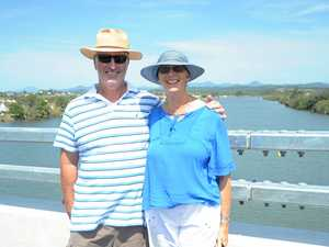 Walking over the new Macksville Bridge