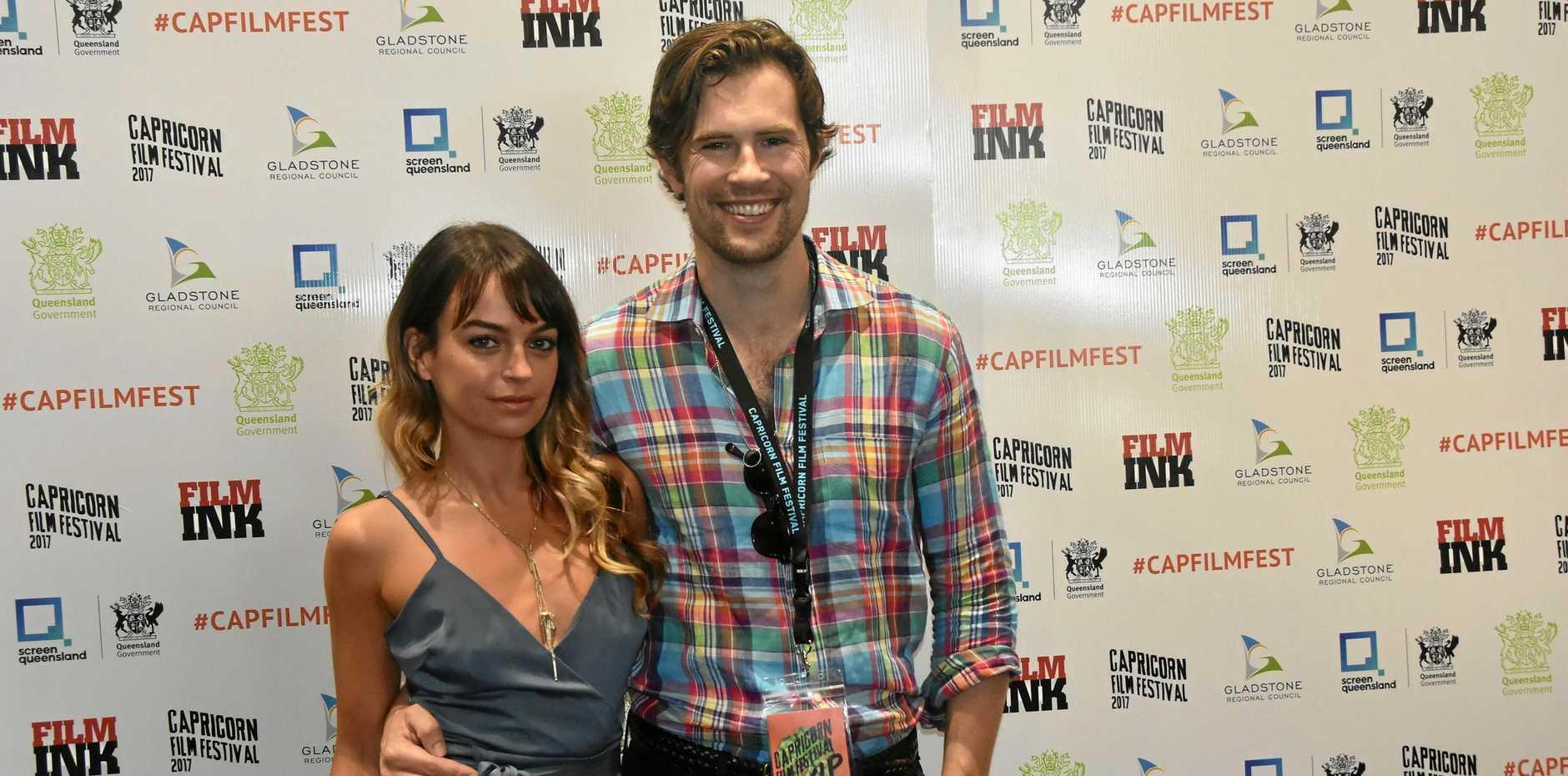 Australian actors David Berry and Bianca Bradey.