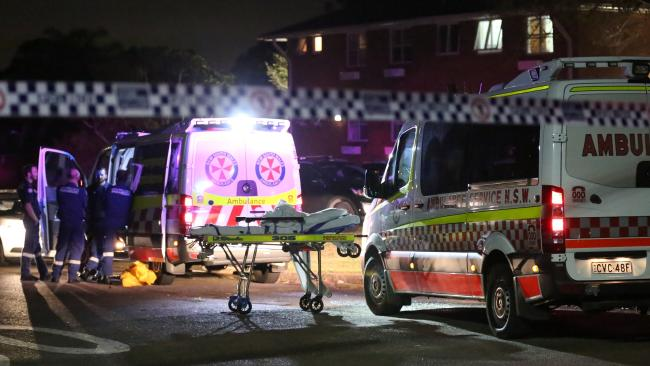A man was last night shot dead at an apartment block on Gundaroo St, Villawood. Picture: Steve Tyson