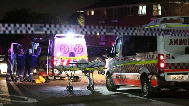 A man was last night shot dead at an apartment block on Gundaroo St, Villawood. Picture: Steve Tyson