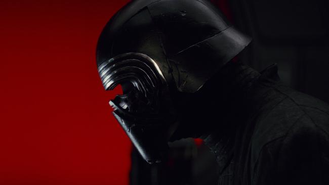 Adam Driver as Kylo Ren in The Last Jedi.