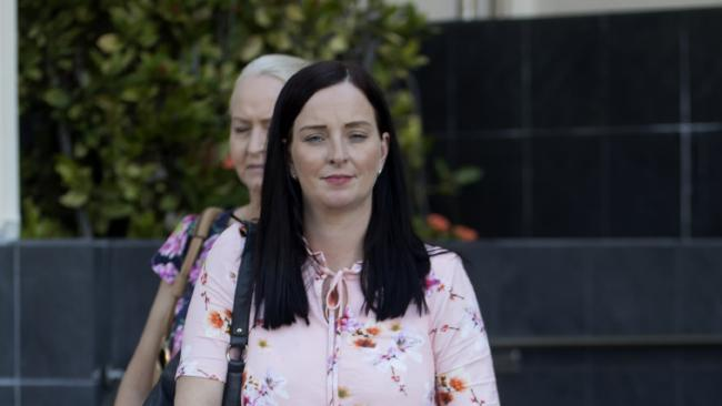Queensland MP Brittany Lauga outside court in Rockhampton last week.