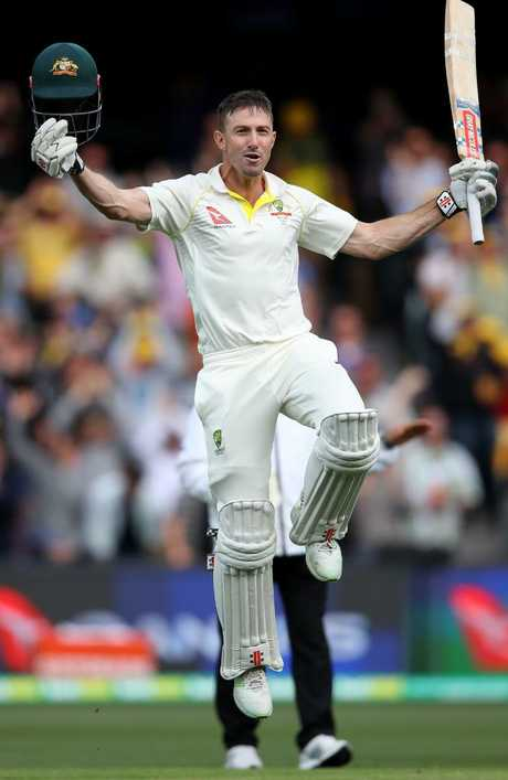 Shaun Marsh hit a century in the second Test in Adelaide