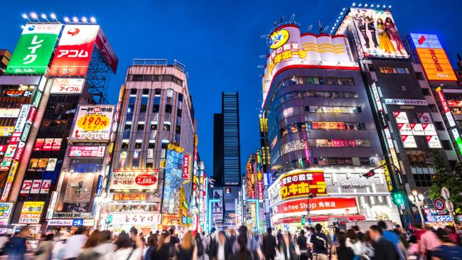 The crowded streets of Japan's red light district, Kabukicho.