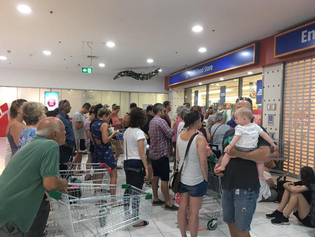 Some customers started lining up from 7.45am.