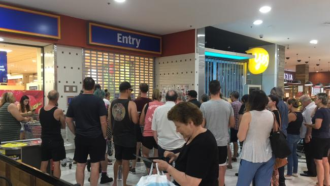 Crowds lined up outside Aldi in Marrickville on Saturday for the Dyson vacuum cleaner.