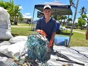 Knee-deep in rubbish issues off Mackay's coast
