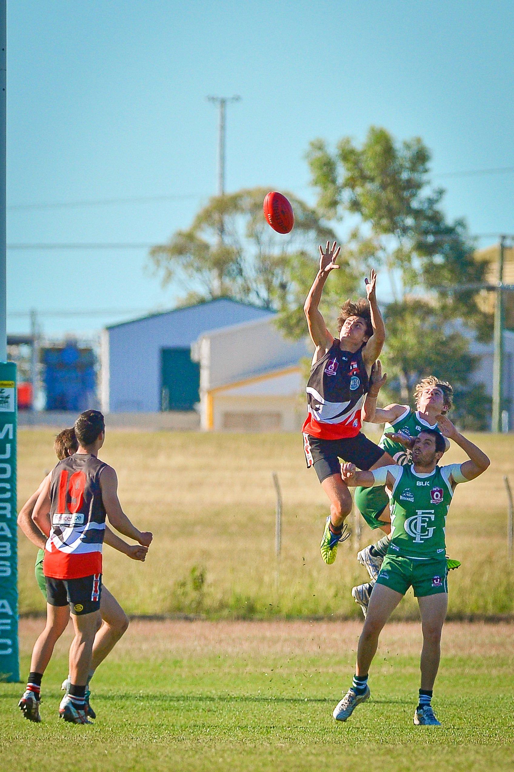 Preliminary AFL final 2016 - BITS vs Mudcrabs.BITS Kane Haua.Photo Mike Richards / The Observer