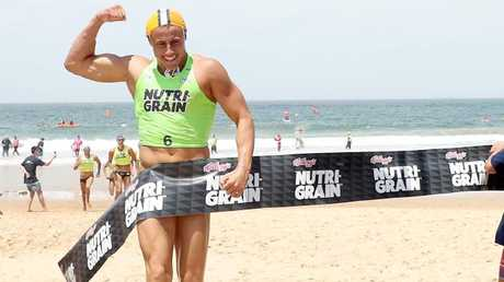 Matt Bevilacqua wins round three of the Nutri-Grain Ironman Series at North Wollongong Beach. Picture: Shane Myers