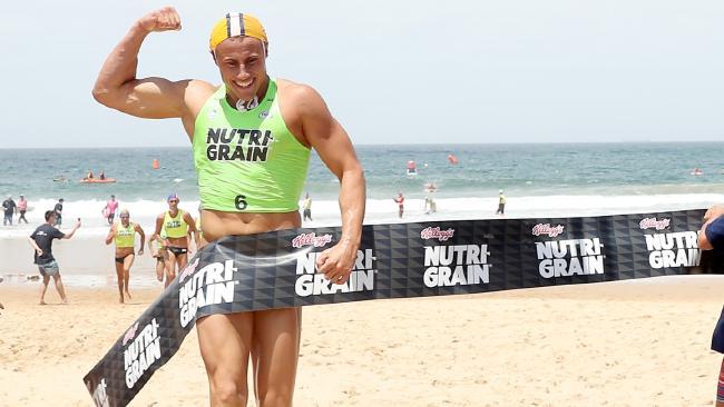 Matt Bevilacqua wins round three of the Nutri-Grain Ironman Series at North Wollongong Beach. Picture: Shane Myers