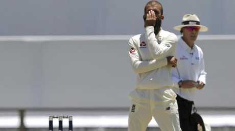 Moeen Ali rues a chance that got away. Picture: AP