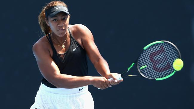 Destanee Aiava in action during the Australian Open Wildcard Playoff final.