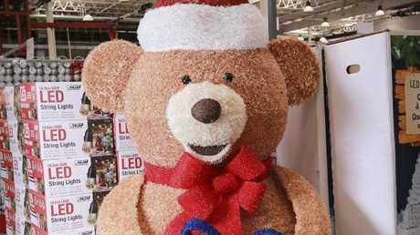 Giant Christmas bear with LED lights: $299.97