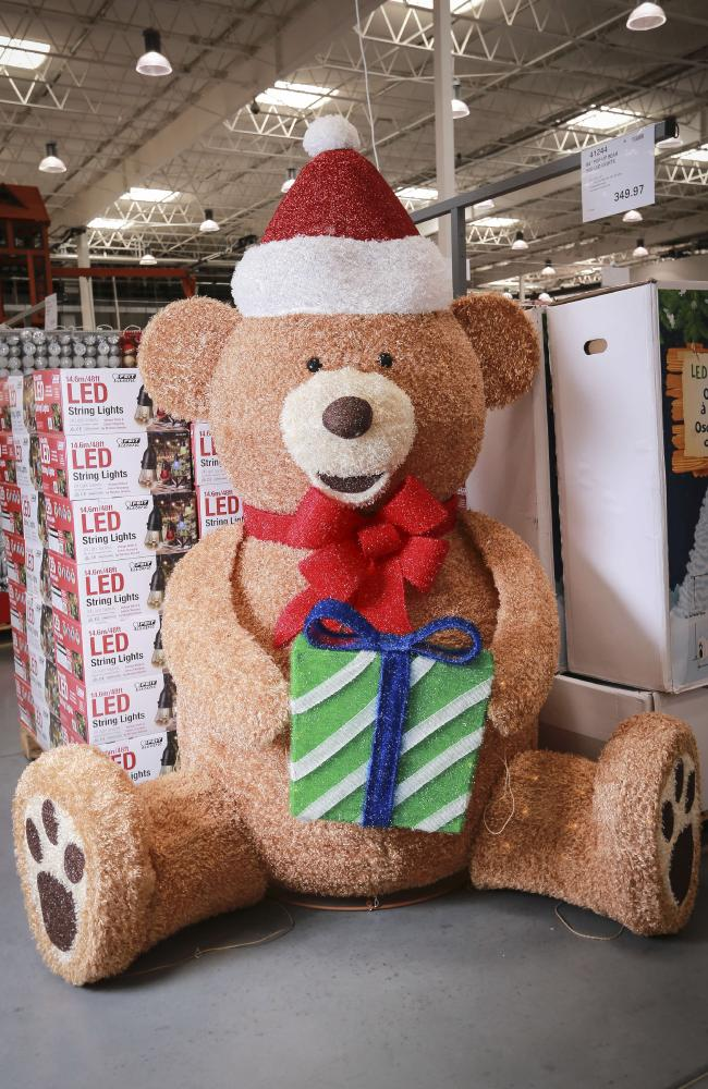 Giant Christmas bear with LED lights: $299.97