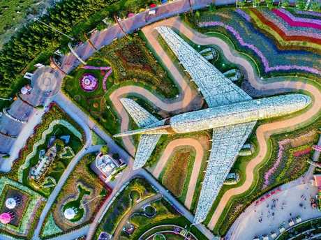 Choose the latest technology aircraft. Picture: Dubai Miracle Garden