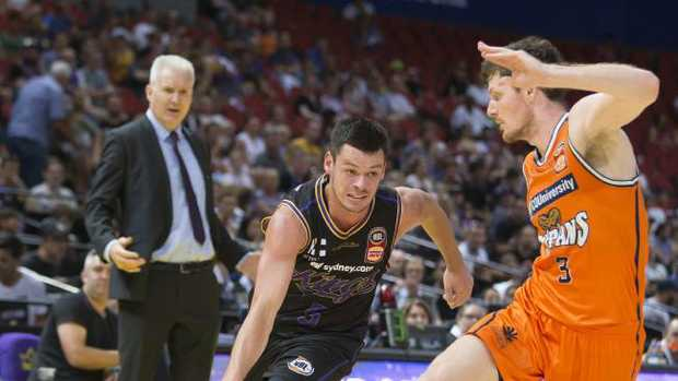 Jason Cadee of the Kings in action during the Round 10 NBL match between the Sydney Kings and the Cairns Taipans at Qudos Bank Arena in Sydney, Sunday, December 17, 2017. (AAP Image/Craig Golding)