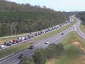 BRUCE HIGHWAY CRASH: Traffic at a standstill