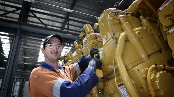 Mechanic, Nathan McDonald works on Caterpillar G3600 engines. Has just returned from Miami where he has gained the necessary qualifications. December 2017