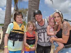 Holiday fun at the Bli Bli Aqua Park.Jay, Jordan