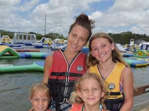 Holiday fun at the Bli Bli Aqua Park.Breanna