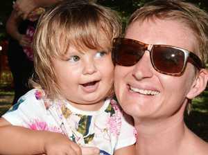 Matilda Rogan and her mum Samara had fun at Queens