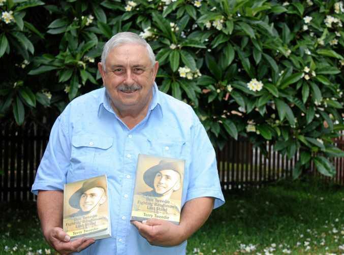 CELEBRATING A SURVIVOR: Terry Tweedie has put on record the testimony of WWII POW Don Tweedie.
