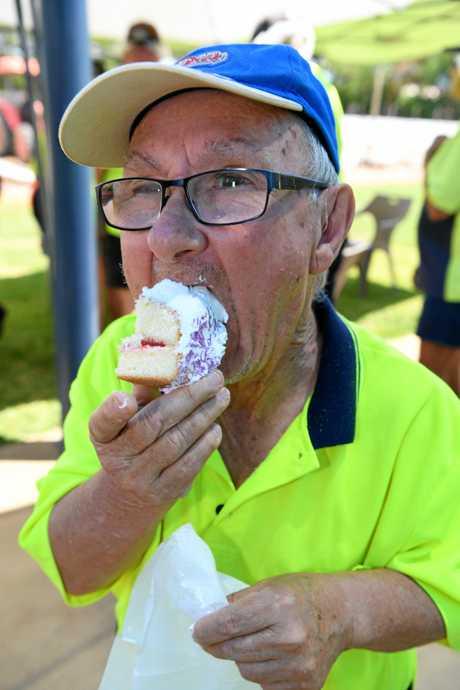 CELEBRATION: Robert Smith celebrates  retirement.