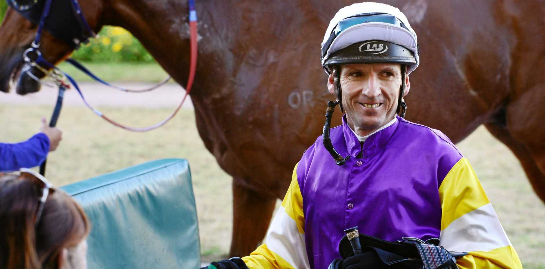 Jockey Scott Galloway (pictured at a recent Ipswich meeting) rode Godwood perfectly in the last race on Friday.