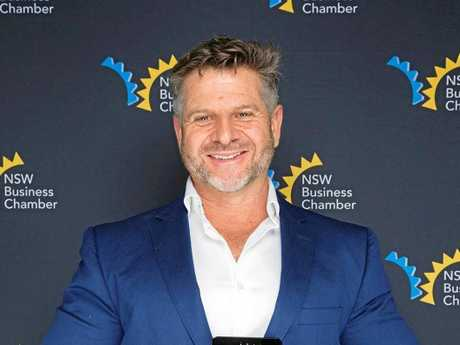 Shaun Martin at the 2017 Northern Rivers Business Awards.