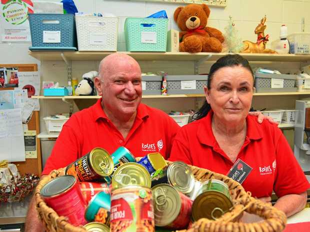 VOLUNTEERS: Rosies Gold Coast volunteer Richard and co-ordinator Kathleen Vlasic provide a helping hand at the Southport drop-in centre.