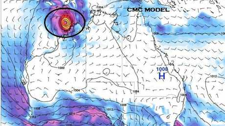 A cyclone is predicted to form off the WA coast at Christmas.