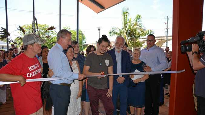 Cutting of the ribbon at the opening of Headspace Grafton on December 18, 2017.