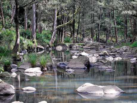 Keith Murray took this prize winning photograph capturing the Condamine through Cambanoora Gorge.