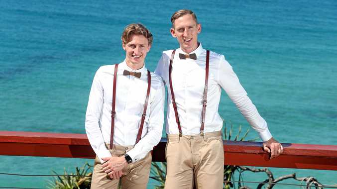 Luke Sullivan and Craig Burns from Eungella will be one of the first gay couples legally married at one past midnight on January 9 when same-sex marriage legislation becomes effective.